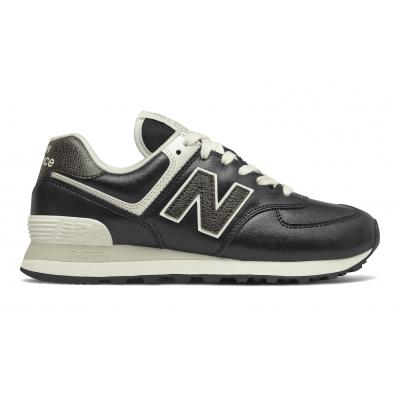Кроссовки New Balance 574 Premium Metallic черные
