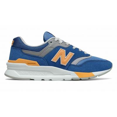 Кроссовки New Balance 997h Varsity голубые с оранжевым