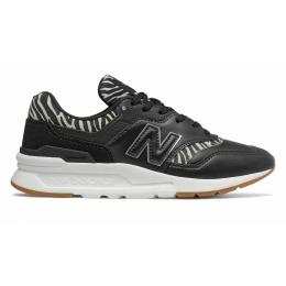 Кроссовки New Balance 997h черные со змеиными вставками
