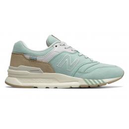 Кроссовки New Balance 997h голубые с коричневым