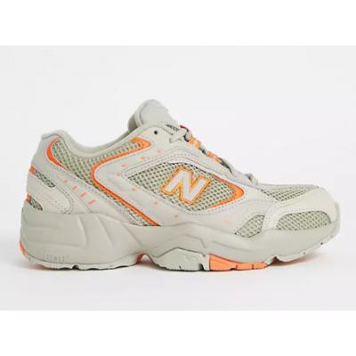 New Balance кроссовки женские 452 серые с оранжевым