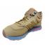 Зимние кроссовки New Balance коричневые с голубой подошвой