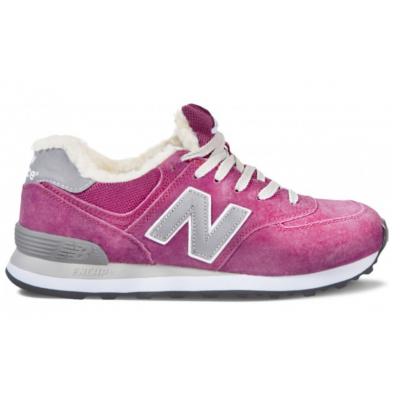 Зимние кроссовки New Balance женские ярко-розовые