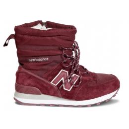 Зимние ботинки New Balance бордовые