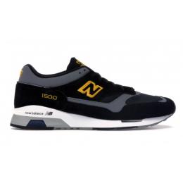 Кроссовки New Balance 1500 черные с желтым
