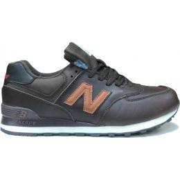 New Balance кроссовки 574 кожаные черные