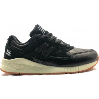 New Balance кроссовки 530 кожаные черные
