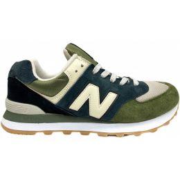 New Balance кроссовки 574 зелено-синие