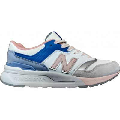New Balance кроссовки 997 бело-серо-синие