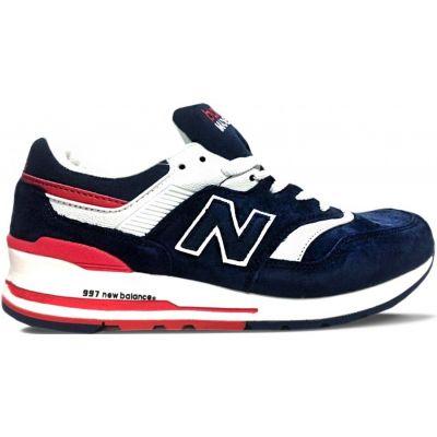 New Balance кроссовки 997 сине-бело-красные