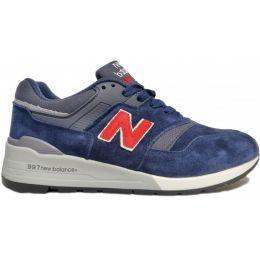 New Balance кроссовки 997 синие с красным