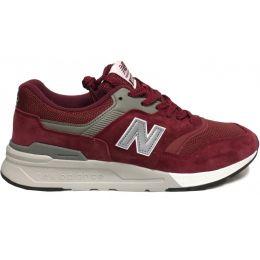 New Balance кроссовки 997 бордовые с серым