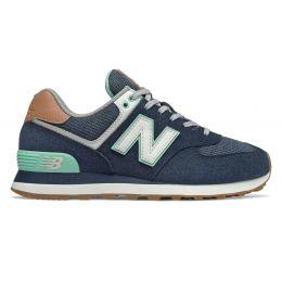 New Balance кроссовки 574 сине-зеленые
