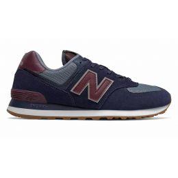 New Balance 574 темно-синие с красным