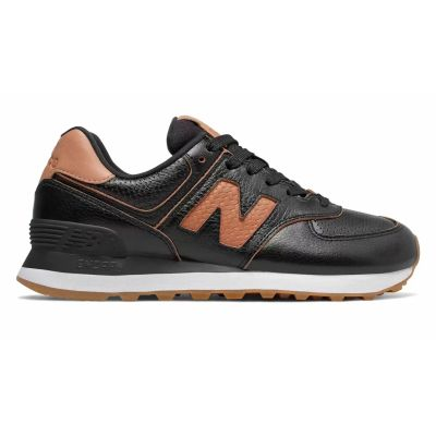 Кроссовки New Balance женские 574 черные с коричневым