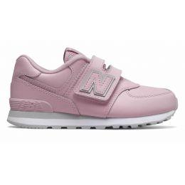 Кроссовки New Balance женские 574 на липучке розовые