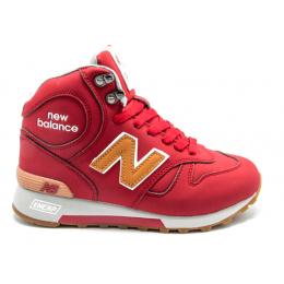 Кроссовки New Balance 1300 красные зимние женские