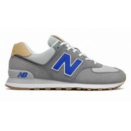 New Balance 574 серые с синим