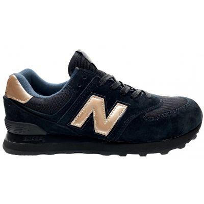 Кроссовки New Balance 574 мужские сине-серый с бронзой
