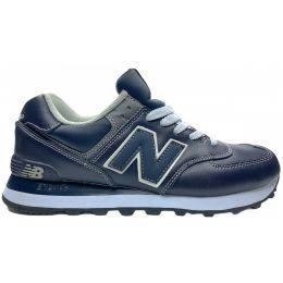 Кроссовки New Balance 574 мужские замшевые темно-синие