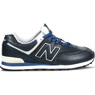 Кроссовки New Balance темно-сине-белые зимние
