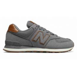 Кроссовки New Balance 574 мужские темно-серые с коричневым
