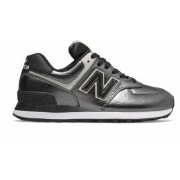 Кроссовки New Balance 574 мужские темно-серебряные