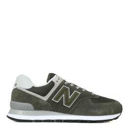 Кроссовки New Balance 574 мужские зеленые с серым