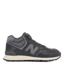 Кроссовки New Balance 574 мужские кожаные темно-серые