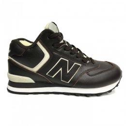 Кроссовки New Balance 574 мужские черные с бежевым