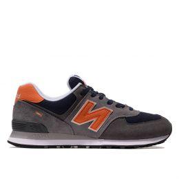 Кроссовки New Balance 574 мужские темно-коричневые с оранжевым