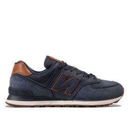 Кроссовки New Balance 574 мужские синие с коричневым