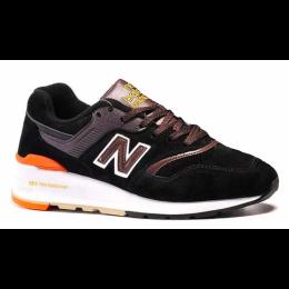 Кроссовки New Balance 997 Sport USA черные с коричневым