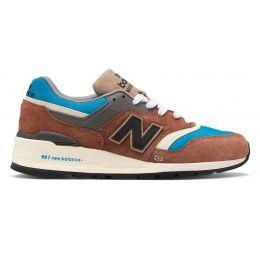 Кроссовки New Balance 997 Made in US Elevated Basics коричневые с голубым