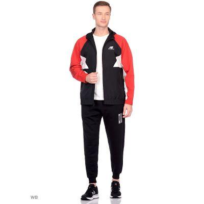 Спортивный костюм New Balance черный с красным