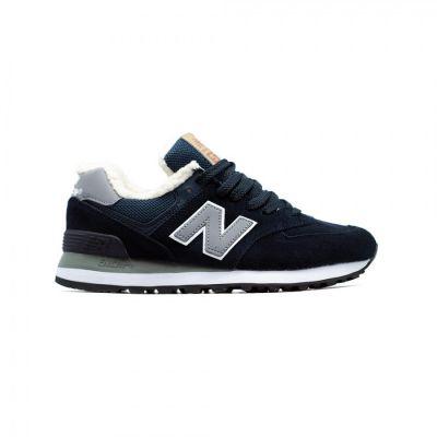 Кроссовки New Balance 574 мужские темно-синие с серым