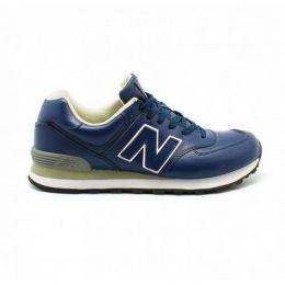 Кроссовки New Balance 574 мужские синие с зеленым