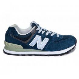 Кроссовки New Balance 574 мужские замшевые синие
