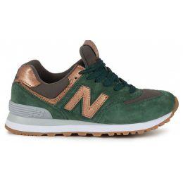 Кроссовки New Balance женские зелено-золотые (36-41)