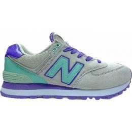 Кроссовки женские New Balance 574 серо-фиолетовые