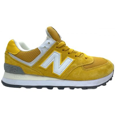Кроссовки женские New Balance 574 желтые