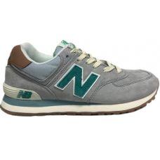 Кроссовки женские New Balance 574 женские сине-зеленые