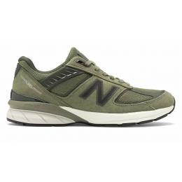 New Balance 990 замшевые зеленые
