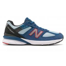 New Balance 990 замшевые голубые