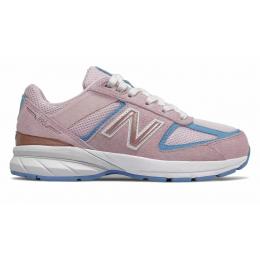 New Balance 990 замшевые розовые для девочки
