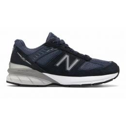 New Balance 990 кожаные синие