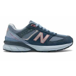 New Balance 990 кожаные голубые