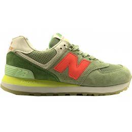 Кроссовки New Balance женские Зелено-оранжевые (36-41)