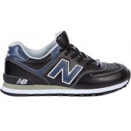 New Balance черно-синие кожаные (40-45)