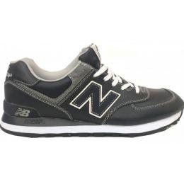Кроссовки мужские New Balance Темно-серые кожаные (40-45)